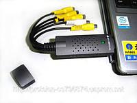 USB карта видеонаблюдения 4 видео + 1аудио