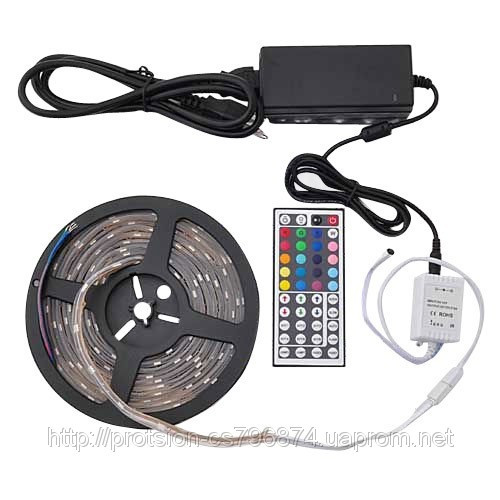 Светодиодная лента RGB с пультом и контроллером + БП, фото 1