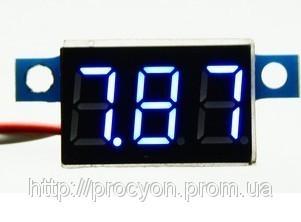 Цифровой вольтметр 3.3-17 синий