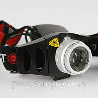 Компактный налобный фонарь с зумом и регулировкой, фото 1