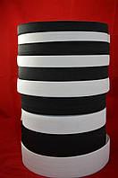 Тесьма-резинка черная и белая 4 см