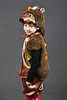 Новогодний костюм Ёжика с листиками для девочек и мальчиков 4-8 лет S787