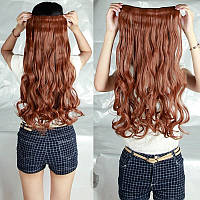 Волосы на заколках затылочная прядь волна №30