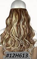 Волосы на заколках тресс прядь волна №12н613 50см