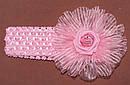 Ажурная детская повязка с латексной розой малиновая, фото 5