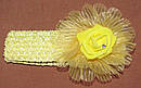 Ажурная детская повязка с латексной розой малиновая, фото 6