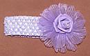 Ажурная детская повязка с латексной розой малиновая, фото 3