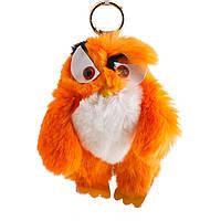 Акция Брелок Птица нат. мех  оранж  Энгри Бердс ( Angry Birds ) h-15 см