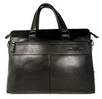 Сумка мужская для документов, портфель, папка Giorgio Armani 6618-3 черный, 38*29*8 см