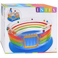 Надувной детский батут Intex 48264 с мячиками