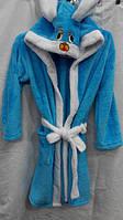 Халат махровый зайчик детский с капюшоном для мальчиков