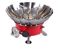 Портативная газовая плита для туриста  с пьезоподжигом