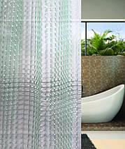 Зеленая штора для ванной голограмма (виниловая), фото 3