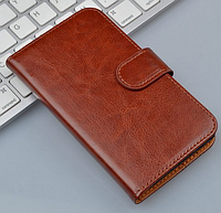 Кожаный чехол-книжка для Sony Xperia ZL L35h C6502 C6503 C6506 коричневый