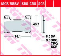 Тормозные колодки TRW / LUCAS MCB755SV