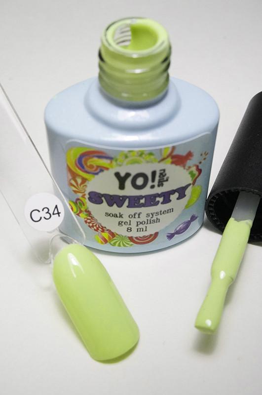"""Пастельный гель-лак """"SWEETY"""" С34 от Yo!Nails"""