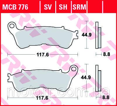 Тормозные колодки TRW / LUCAS MCB776SV
