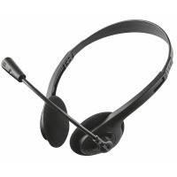 Компьютерная гарнитура trust ziva chat headset с микрофоном (21517)