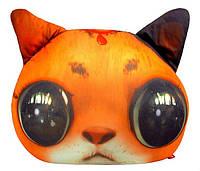 Мягкая игрушка антистресс Кот глазастик рыжий