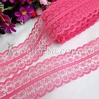 Кружево Анжелика  4 см, ярко-розовый