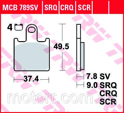 Тормозные колодки TRW / LUCAS MCB789SV