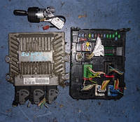 Блок управления двигателем комплект ( ЭБУ )FiatScudo New 2.0Mjet2007-SIEMENS VDO 5WS40615C-T, 9661642180,