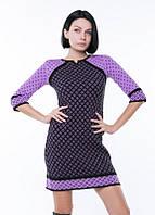 Модное теплое вязаное платье