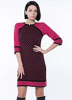 Модное вязаное платье зимнее