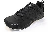 Кроссовки мужские BONA  кожаные, черные (Бона)(р.41,42,43,45)