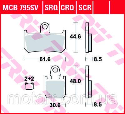 Тормозные колодки TRW / LUCAS MCB795SV