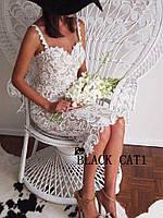 Платье гипюр белое