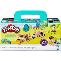 Набор Play-Doh плей до из 20 баночек Super Color 20 Pack A7924 1,68 кг