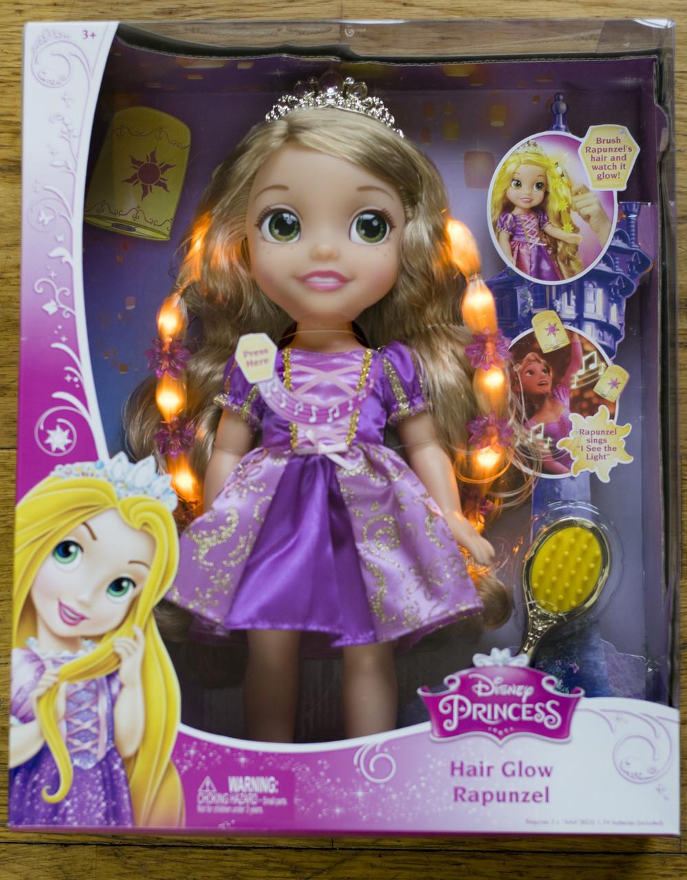 Кукла Disney малышка Рапунцель волосы светятся Rapunzel Hair Glow Toddler 35 см , фото 1