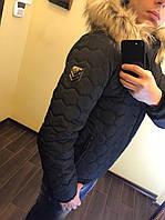 Зимняя мужская куртка на синтепоне с подкладом овчина