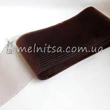 Регилин (кринолин) шляпный широкий, 10 см, коричневый