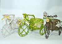 """Кашпо """"Велосипед маленький"""" горшок солома декор"""