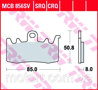 Тормозные колодки TRW / LUCAS MCB856SV
