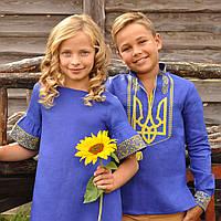 Патриотичный комплект: вышиванка для мальчика и вышитое платье для девочки