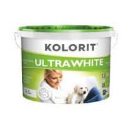 Краска Kolorit UltraWhite на акрилатной основе (Колорит Ультра белая) 10л