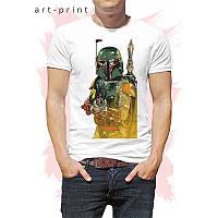 Мужская футболка с рисунком Боба Фетт