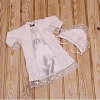 """Крестильная рубашка """"Даниила"""" для девочки (айвори)"""