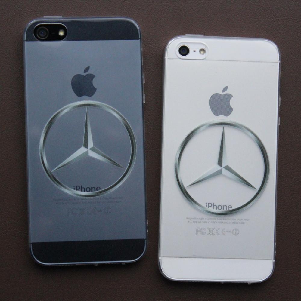 Чехлы для iPhone 5 5S SE Mercedes силиконовые