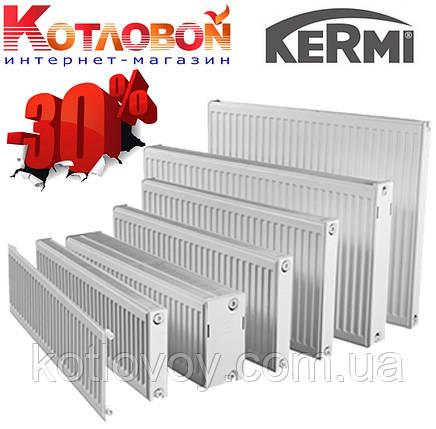 Стальные радиаторы Kermi (Керми) 11, 400х1600, FKO (с боковое подключение и внутренняя резьба ½″), белый, фото 2