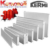 Стальные радиаторы Kermi (Керми) 11, 400х1600, FKO (с боковое подключение и внутренняя резьба ½″), белый