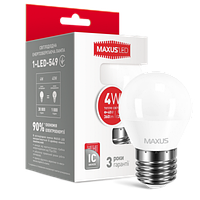 LED лампа MAXUS G45 F 4W теплый свет E27 (1-LED-549)