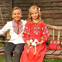 Парные вышиванки: вышиванка для мальчика и вышитое платье для девочки, фото 1