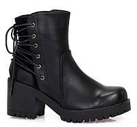 Ботинки на шнурках,на тракторной подошве
