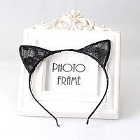 Очень стильный обруч кошка, цвет черный!!! аалекс №5004