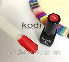 Гель лак kodi professional № 10 ( ализариновый красный ) 8 мл.