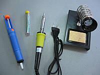 Набор для пайки ZD303 (паяльник 220V 30W, оловоотсос, подставка, припой 10гр)